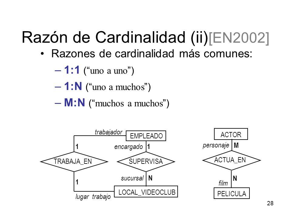 Razón de Cardinalidad (ii) [EN2002]